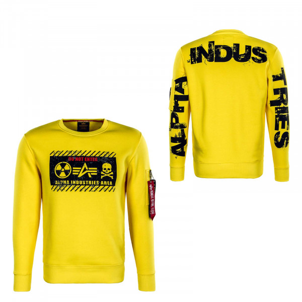 Herren Sweat - Radioactive - Empire Yellow