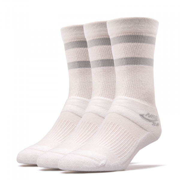 Nike SB Socks SX 5760 3er P White Grey
