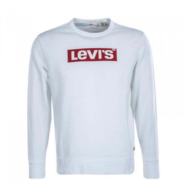 Herren Sweatshirt Graphic Crew T2 Flock White