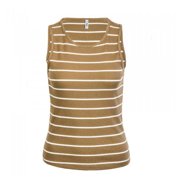 Damen Top - Nuvella Life S/L - Elmwood / Stripe