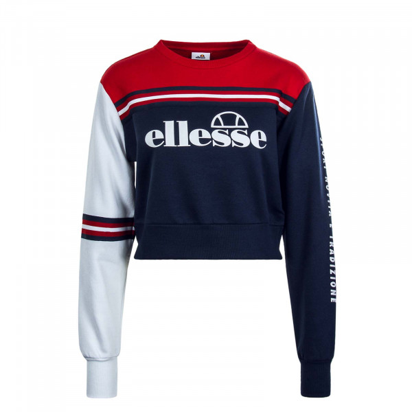 Damen Sweatshirt Umana Navy Red White