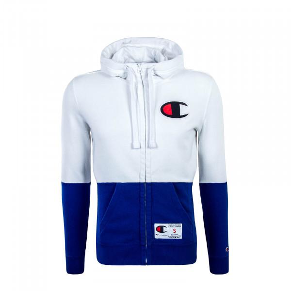 Champion Full Zip Sweatjacket White Blue