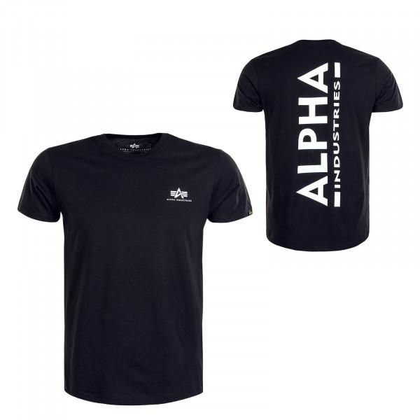 Herren T-Shirt Backprint Black