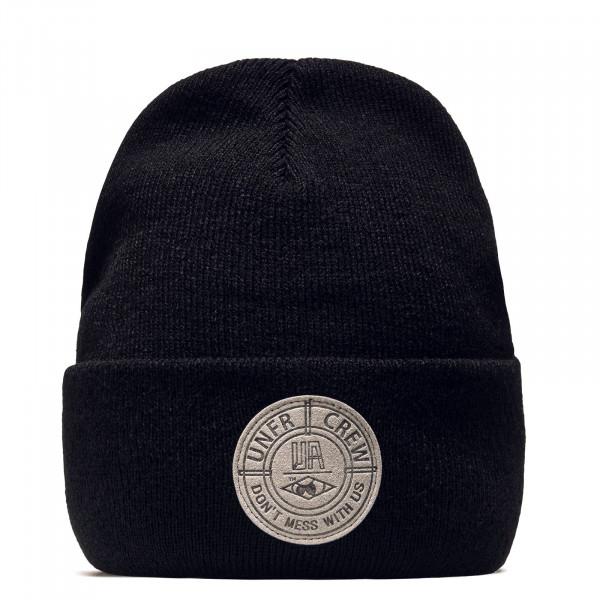 Beanie DMWU Badge Black Grey