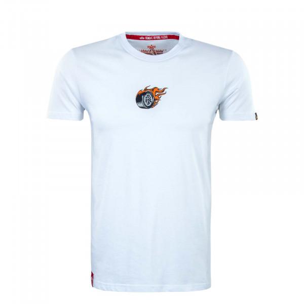 Herren T-Shirt - Hot Wheels Back Print - White