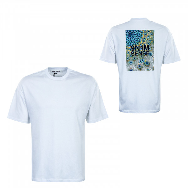 Herren T-Shirt - Peacock - White