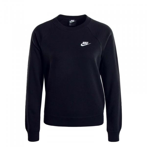Damen Sweatshirt  4110 Crew Black White