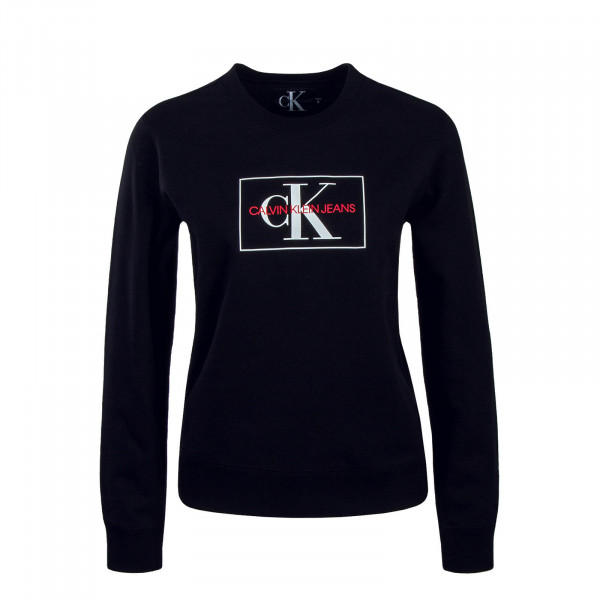 CK Wmn Sweat Monogram Outline Black