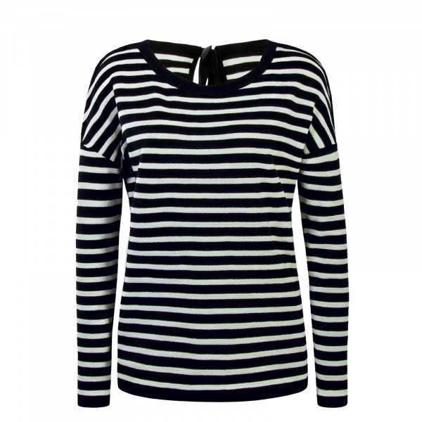 Damen Longsleeve Sanna Bow Stripe Black White