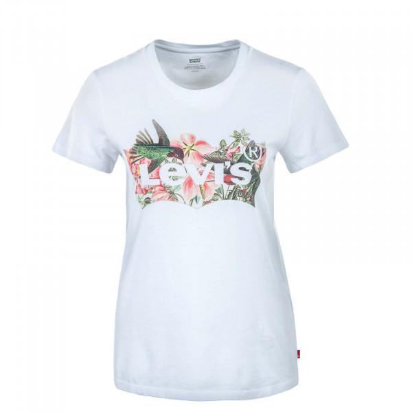 Damen T-Shirt - Perfect Batwing Fill - White / Red