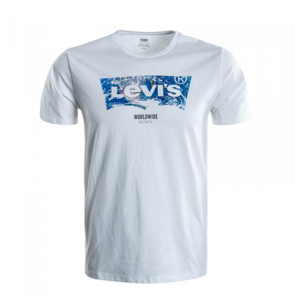 Herren T-Shirt Housemark Graphic White
