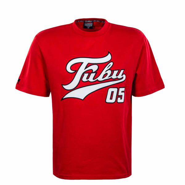 Herren T-Shirt - Varsity - Red / White / Black