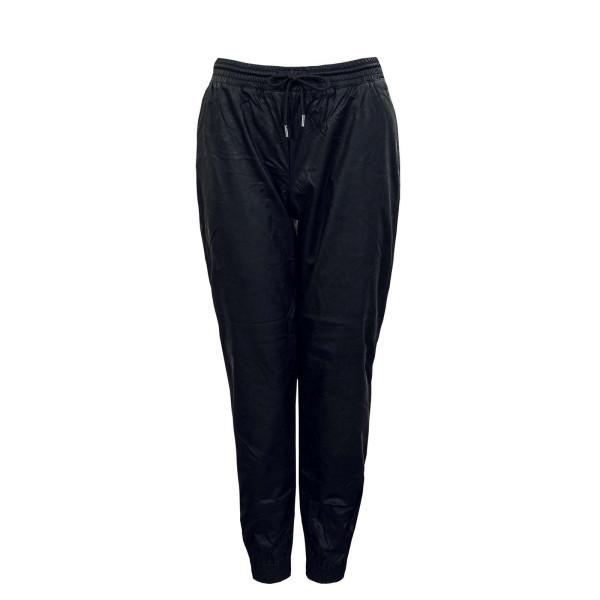 Damen Hose - Mady MW Faux Leather - Black
