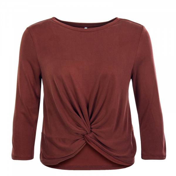Damen Longsleeve Ffree 3/4 Wrap Bordeaux
