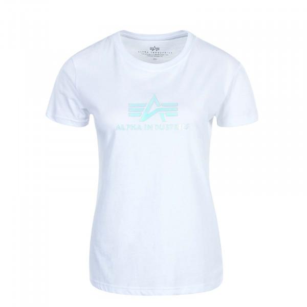 Damen T-Shirt Rainbow White