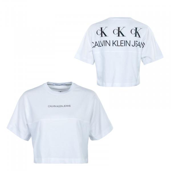 Damen T-Shirt - Back Reflective Logo - Bright White