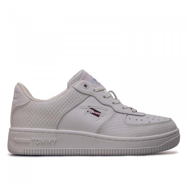 Damen Sneaker - Textured Basket Cupsole - White