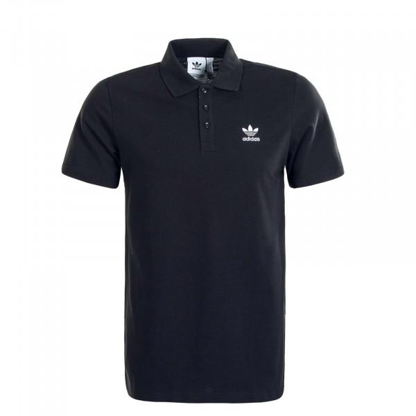 Herren Poloshirt Essential Black White