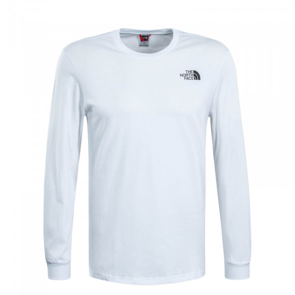 Herren Longsleeve Simple Dome White