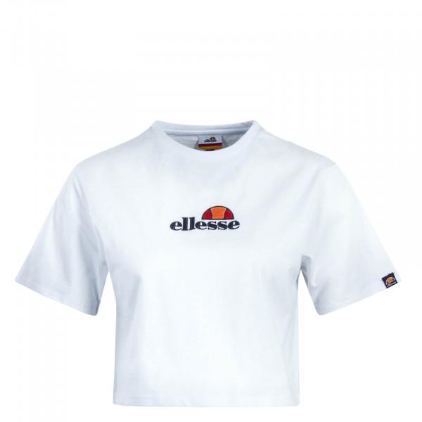 Damen T-Shirt Crop Fireball White