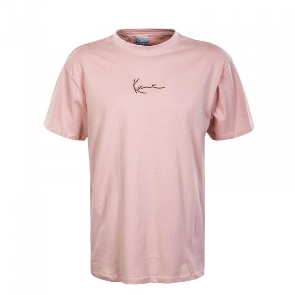Herren T-Shirt - Small Signature - Rose