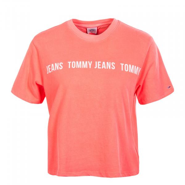 Damen T-Shirt - BXY Crop Tape - Diva Pink