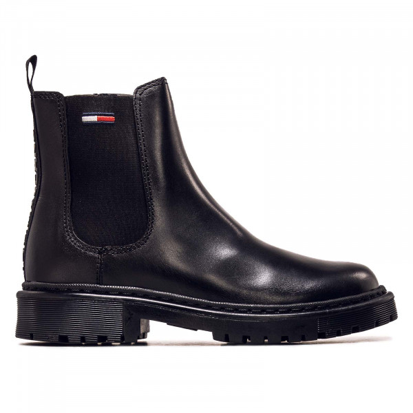 Damen Boots - Branded Tape Chelsea - Black