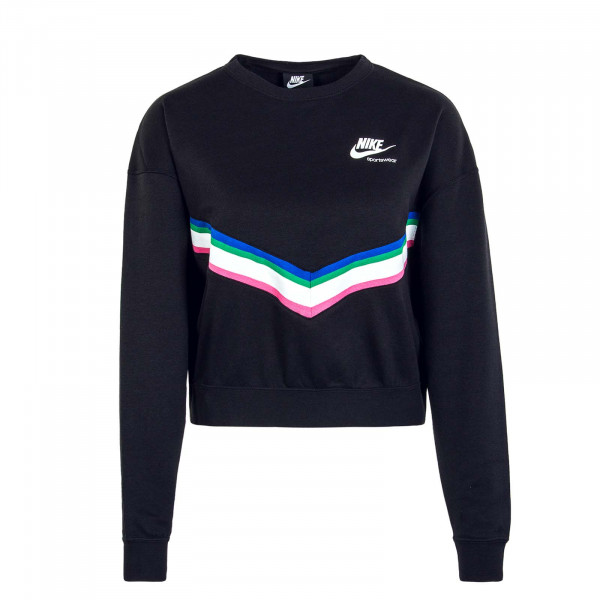 Damen Sweatshirt Heritage Crew CU5877 Black