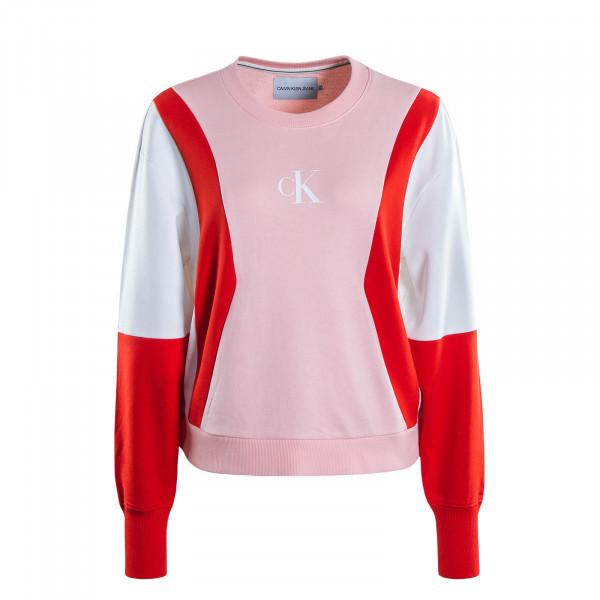 Damen Sweatshirt 3478 Rosa White Red