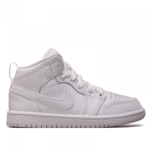 Kinder Sneaker Jordan 1 Mid PS White