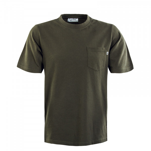 Herren T-Shirt - Bobby Pocket - Olive