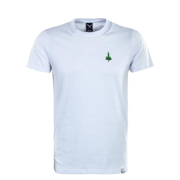 Herren T-Shirt - Hemp Emmb - White