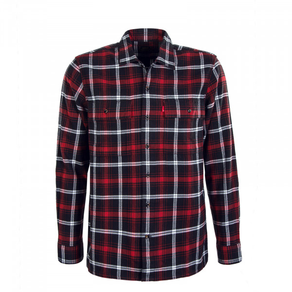 Herren Hemd Work Red Black