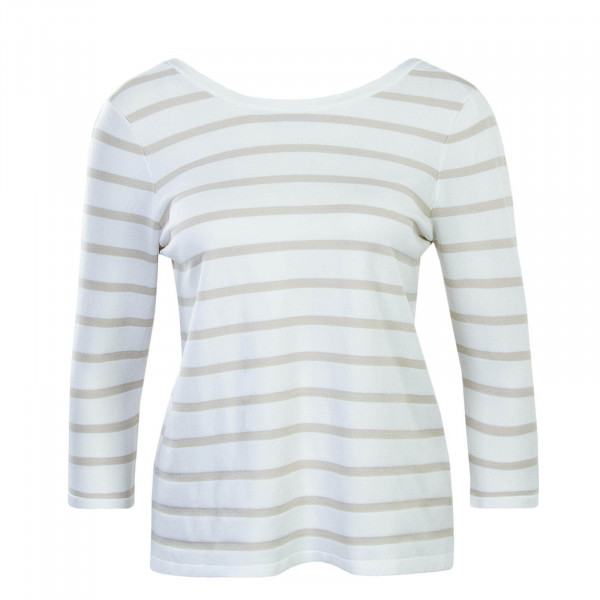 Damen Longsleeve 3/4 Minna Beige Stripes Brown