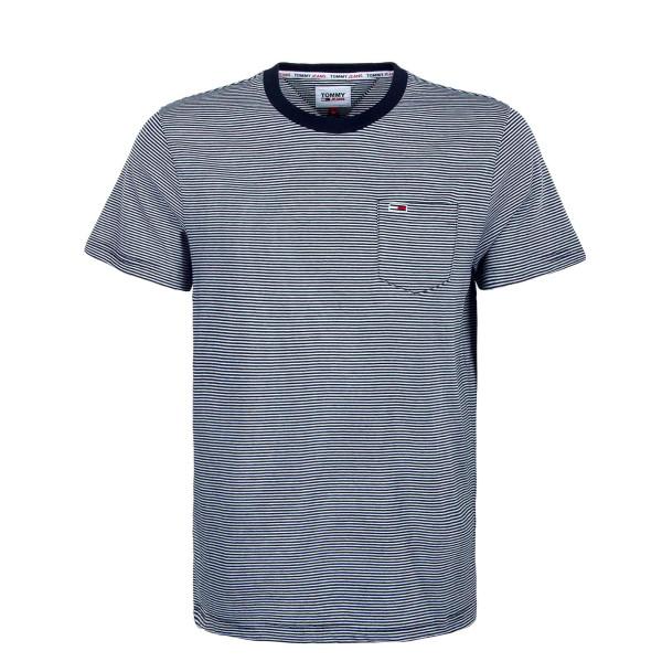 Herren T-Shirt - Reg Stripe Pocket Stripe - Twilight Navy