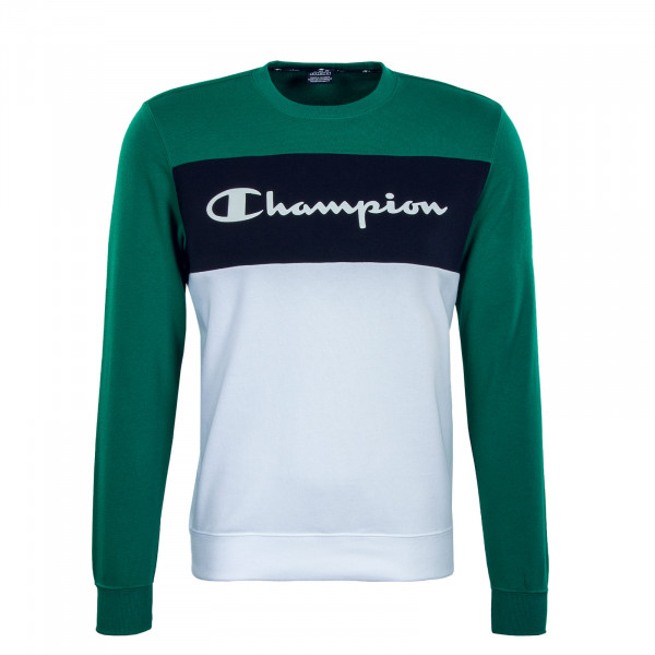 Herren Sweatshirt - Crewneck 216198 - Green / Navy / White