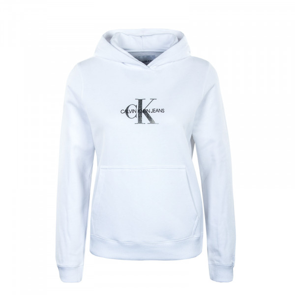 Damen Hoody Glitter Monogram Bright White