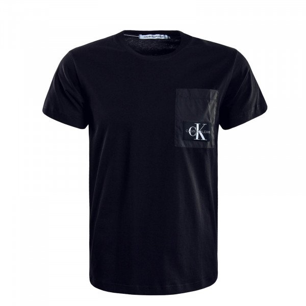 Herren T-Shirt Mixed Media Black