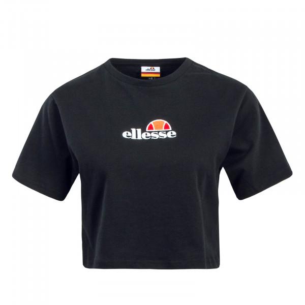 Damen T-Shirt Crop Fireball Black