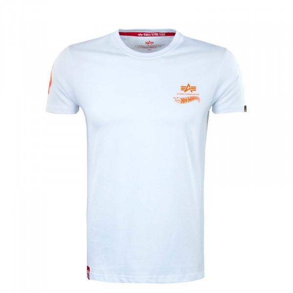 Herren T-Shirt - Flame - White