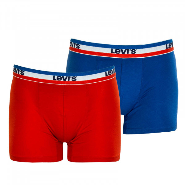 Herren Boxershort 2er-Pack - Sportswear Logo - Red / Blue