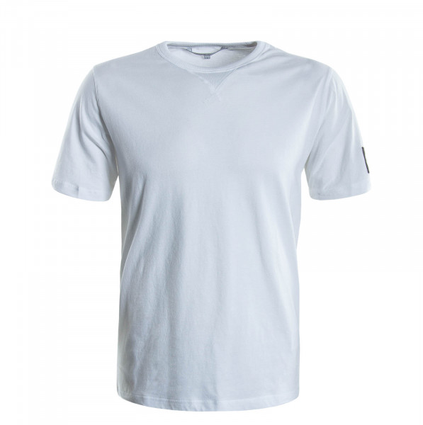 Herren T-Shirt Monogram Sleeve 4051 White
