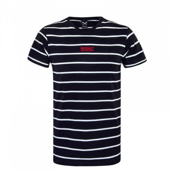 Herren T-Shirt Lone Stripe Black White Red