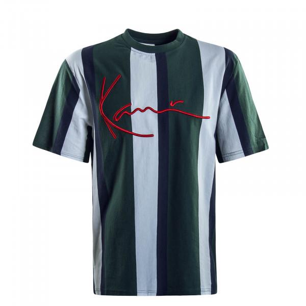 Herren T-Shirt Signature Stripe Green White