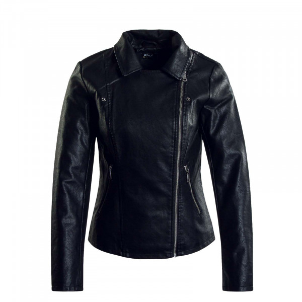 Damen Lederjacke - Melisa Faux Leather Biker - Black