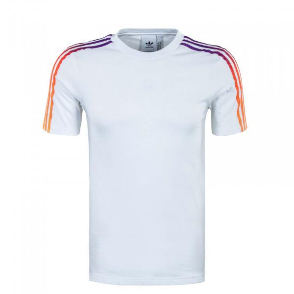 Herren T-Shirt - Sport 3 Stripe GN2418 - White / Multicolor