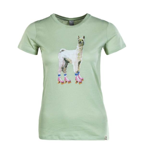 Damen T-Shirt - Rolama Printed - Pistazie