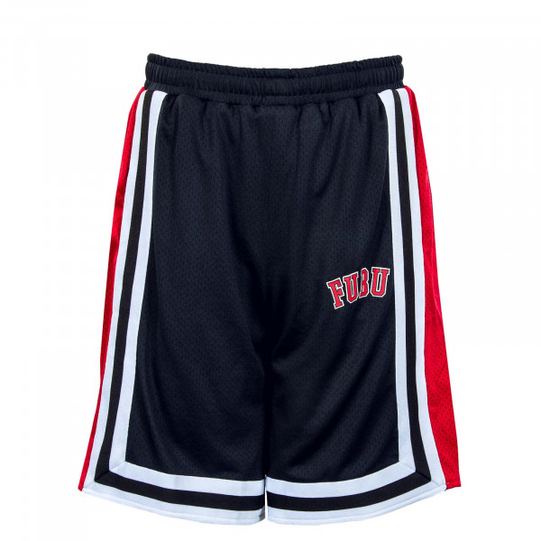 Herren Trainingsshort - College Mesh Shorts - Black / Red / White