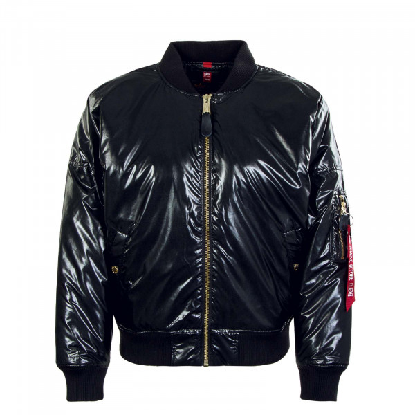 Damen Jacke - MA-1 OS Metallic - Black