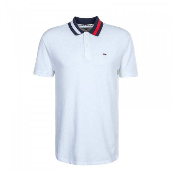 Herren Polo-Shirt TJM Flag Neck 6576 White